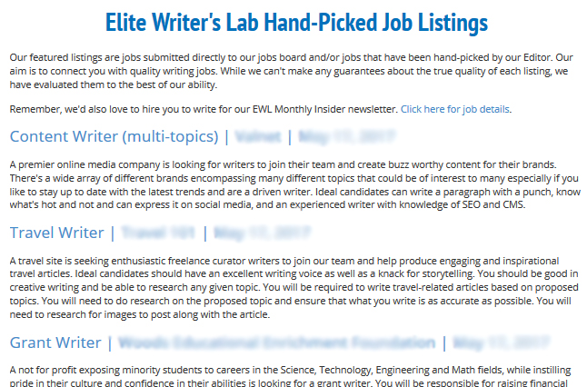 join the elite writer s lab elite writer s lab by ron douglas  member perk 5 hand picked writing job opportunities